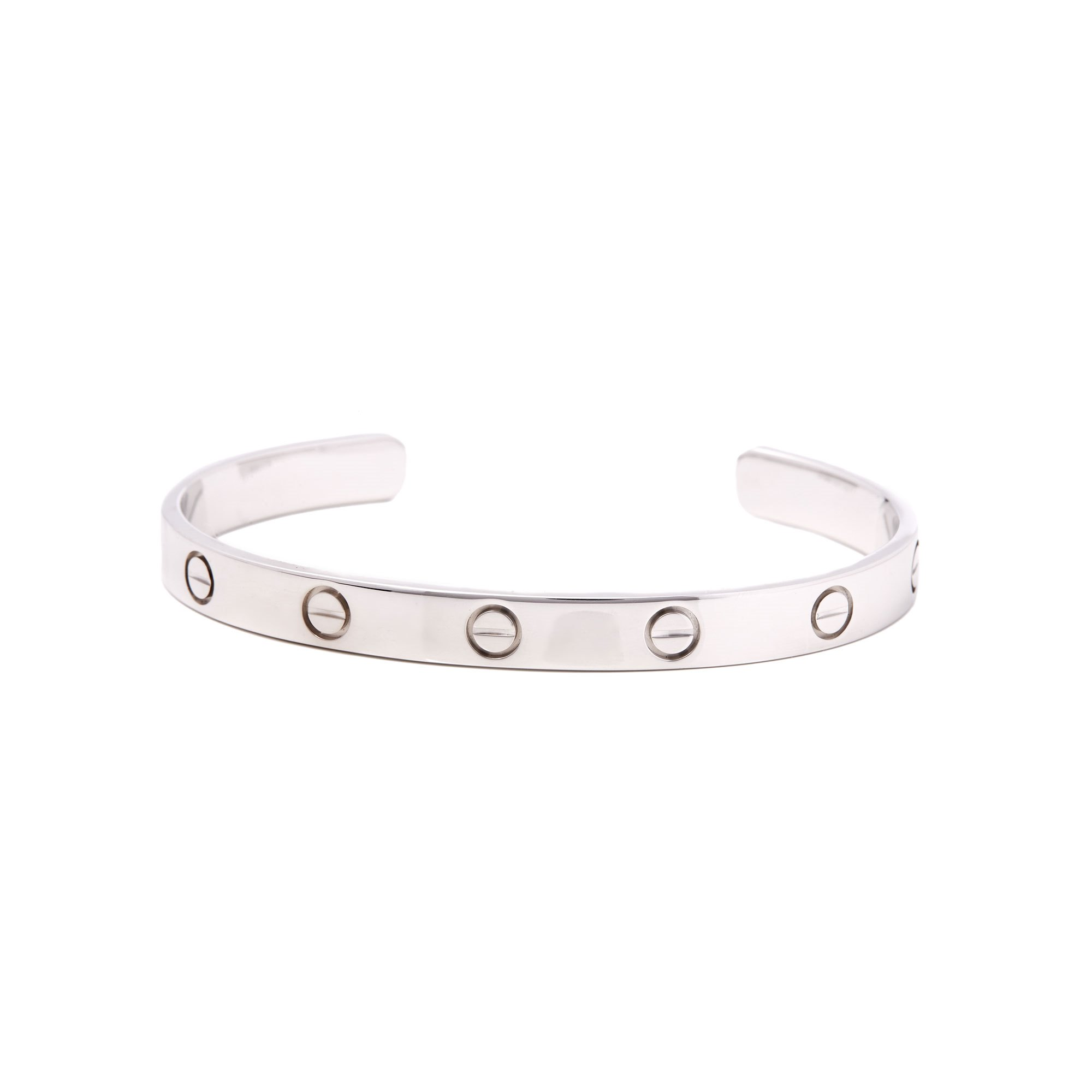 Cartier Love 18ct White Gold Cuff Bangle