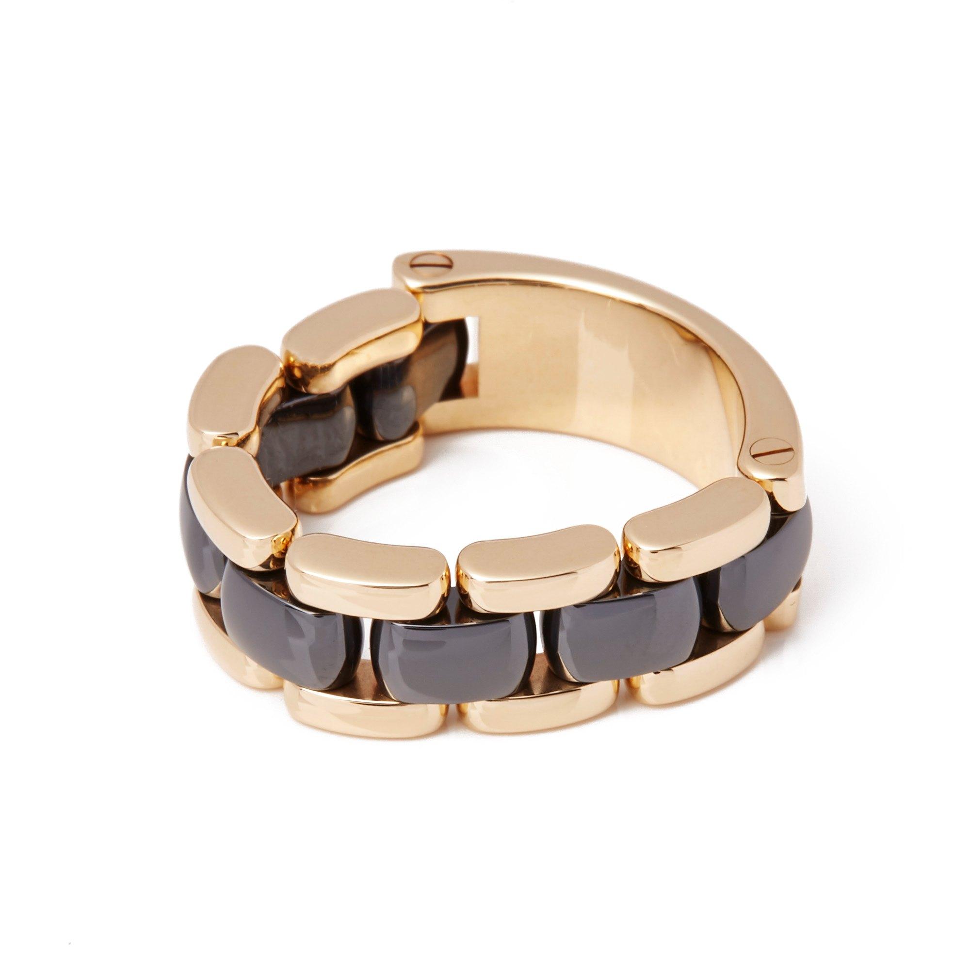 Chanel 18ct Yellow Gold Hematite Ultra Ring