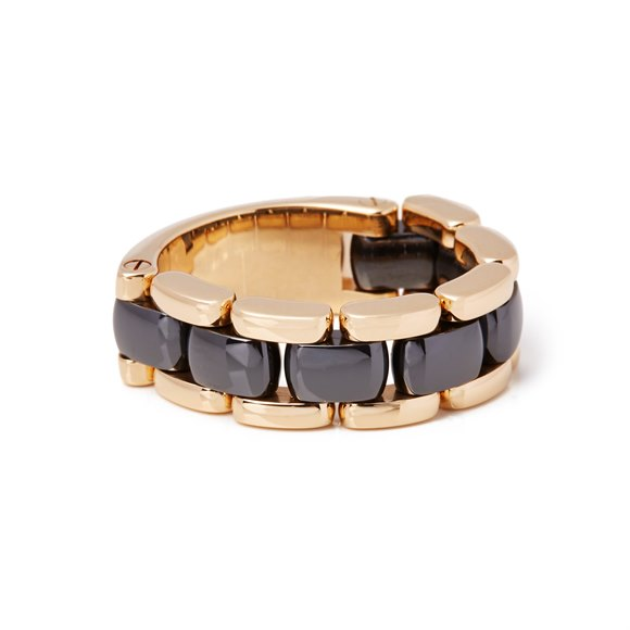 Chanel 18ct Yellow Gold Hematite Ultra Ring