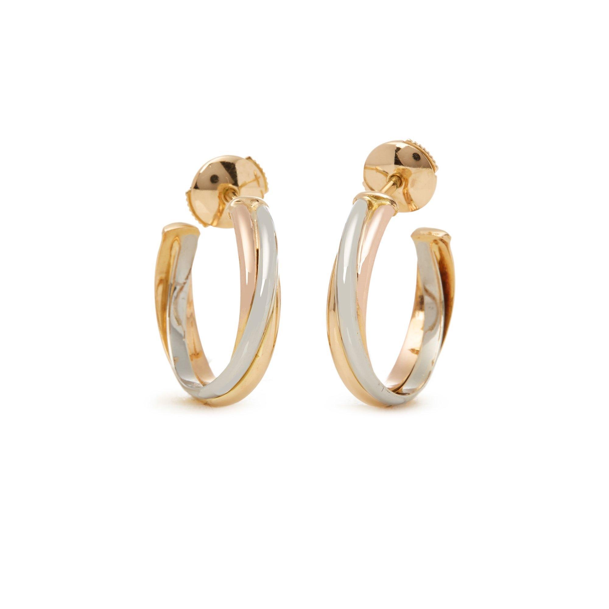 Cartier Trinity 18ct Gold Hoop Earrings