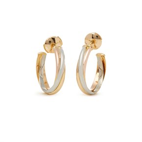 Cartier Trinity 18ct Gold Hoop Earrings