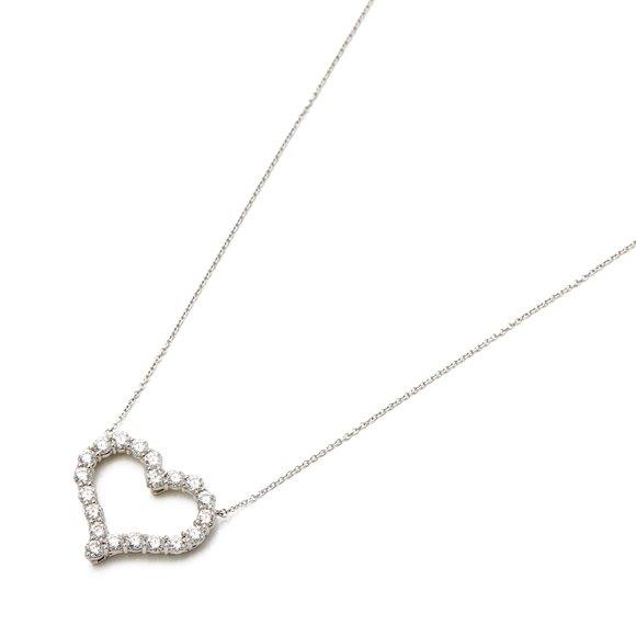 Tiffany & Co. Hearts Large 1.96ct Diamond platinum pendant
