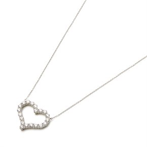 Tiffany & Co. Hearts Large 1.96ct Diamond platinum pendant