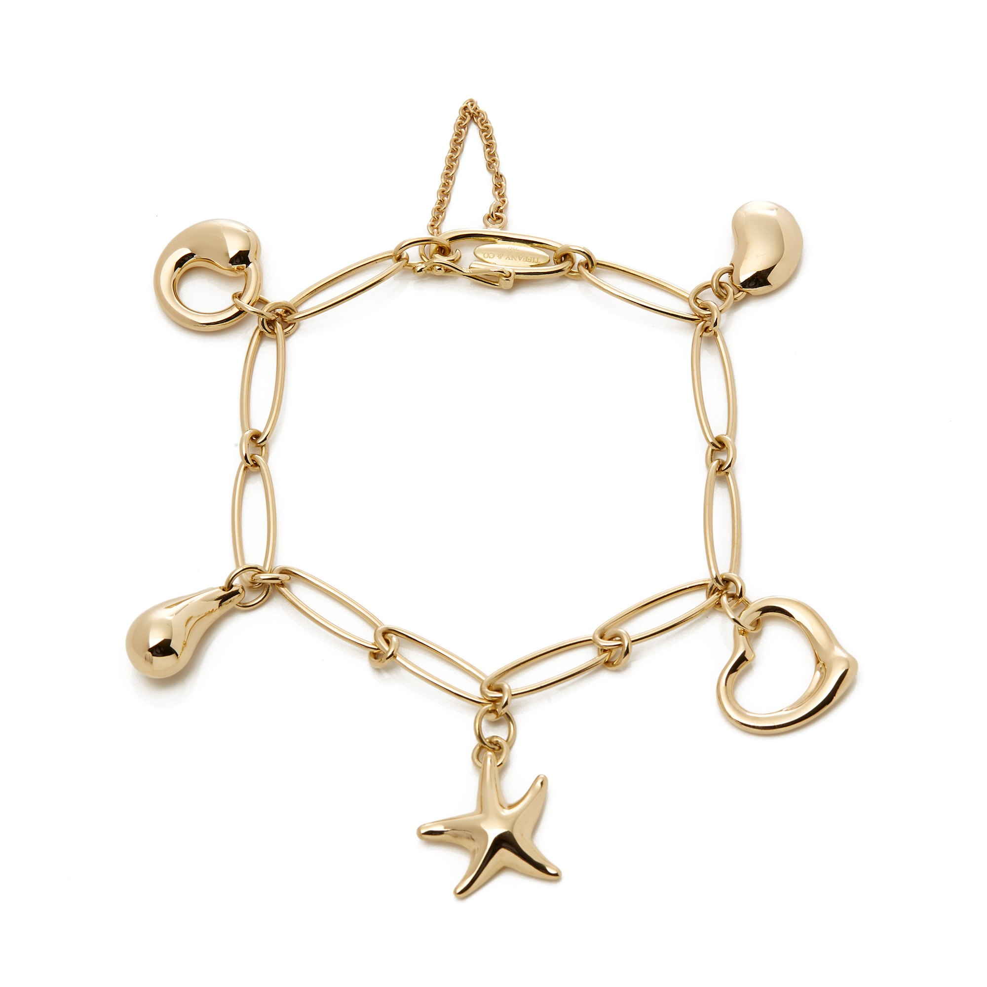 Tiffany & Co. Elsa Peretti 18ct Gold 5 Charm Bracelet