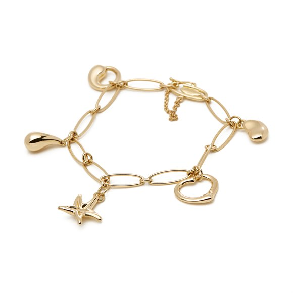 Tiffany & Co. Elsa Peretti 18ct Gold 5 Charm Bracelet
