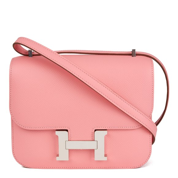 Hermès Rose Confetti Epsom Leather Constance 18