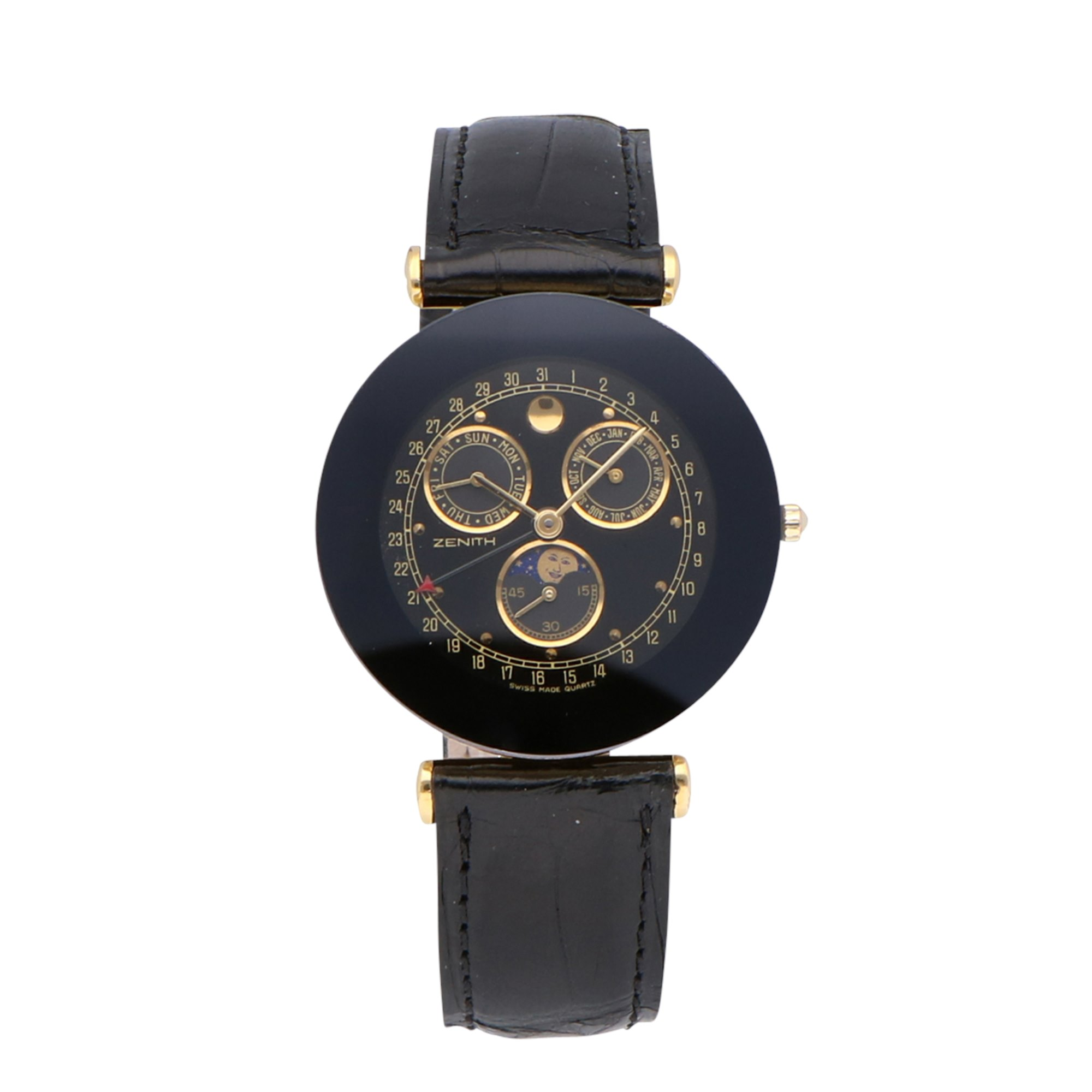 Zenith Pacific Triple Date Moonphase Yellow Gold Plated 27.2010.393