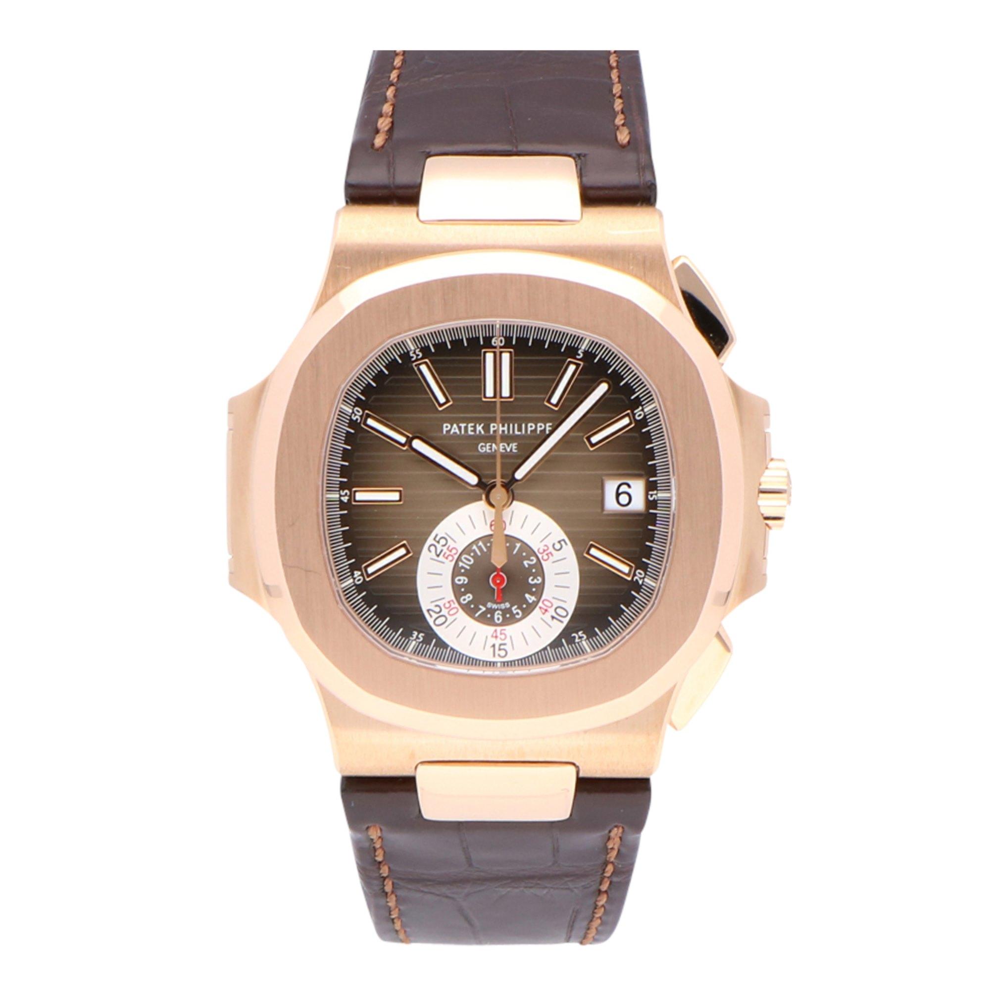 Patek Philippe Nautilus 18k Rose Gold 5980R-001