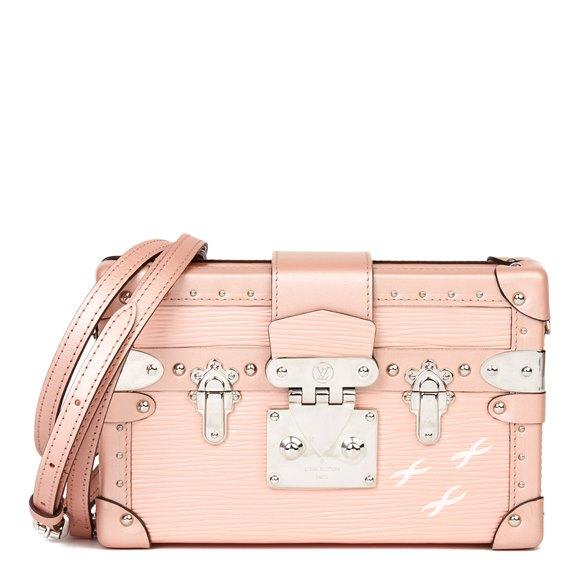 Louis Vuitton Pink Metallic Epi Leather & Calfskin Petite Malle
