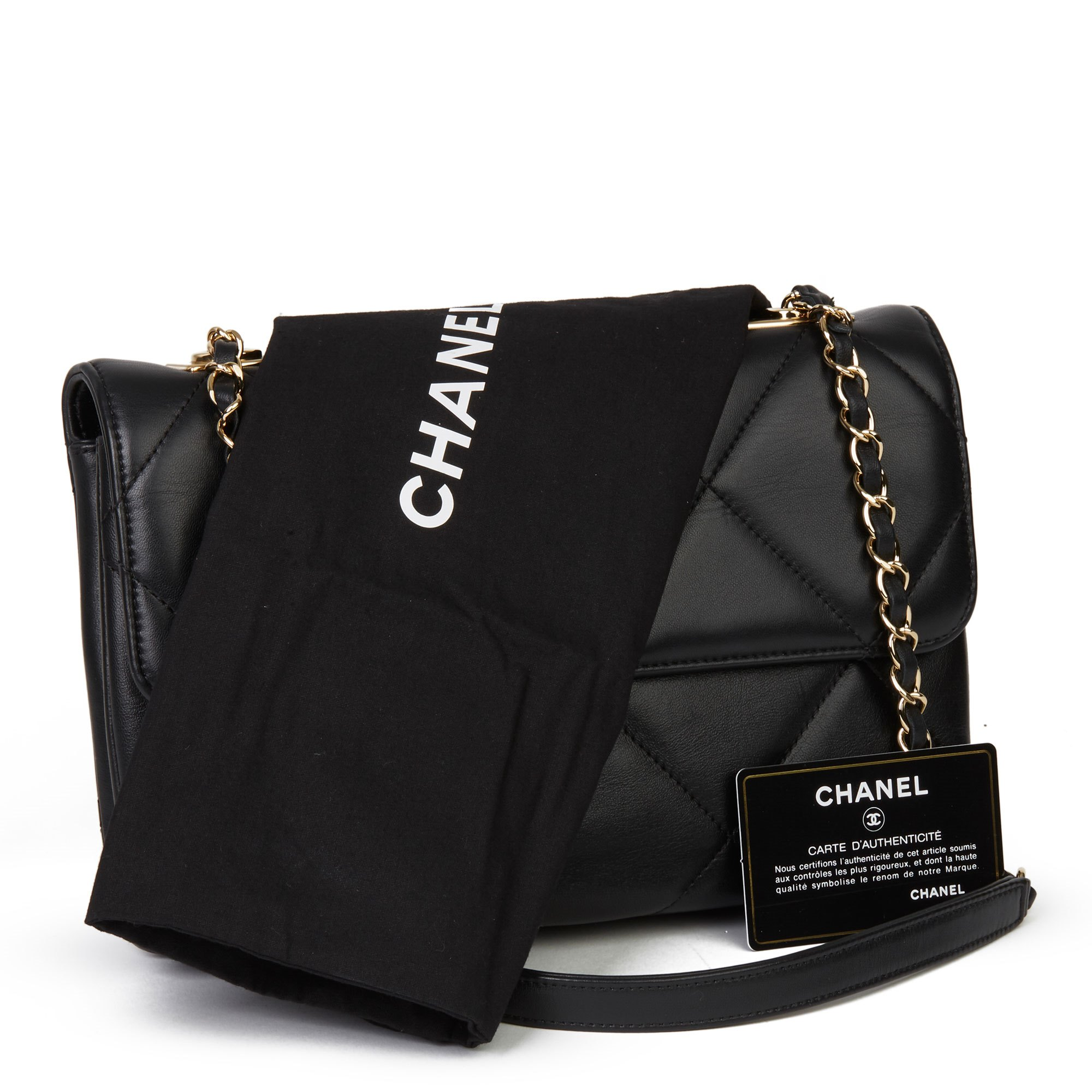 Chanel Black Quilted Lambskin Trendy CC Flap Bag