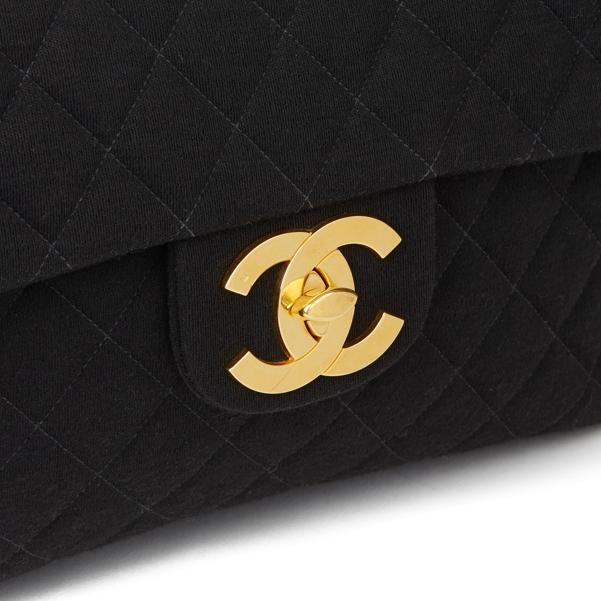 Chanel Black Quilted Jersey Fabric Vintage Jumbo XL Backpack