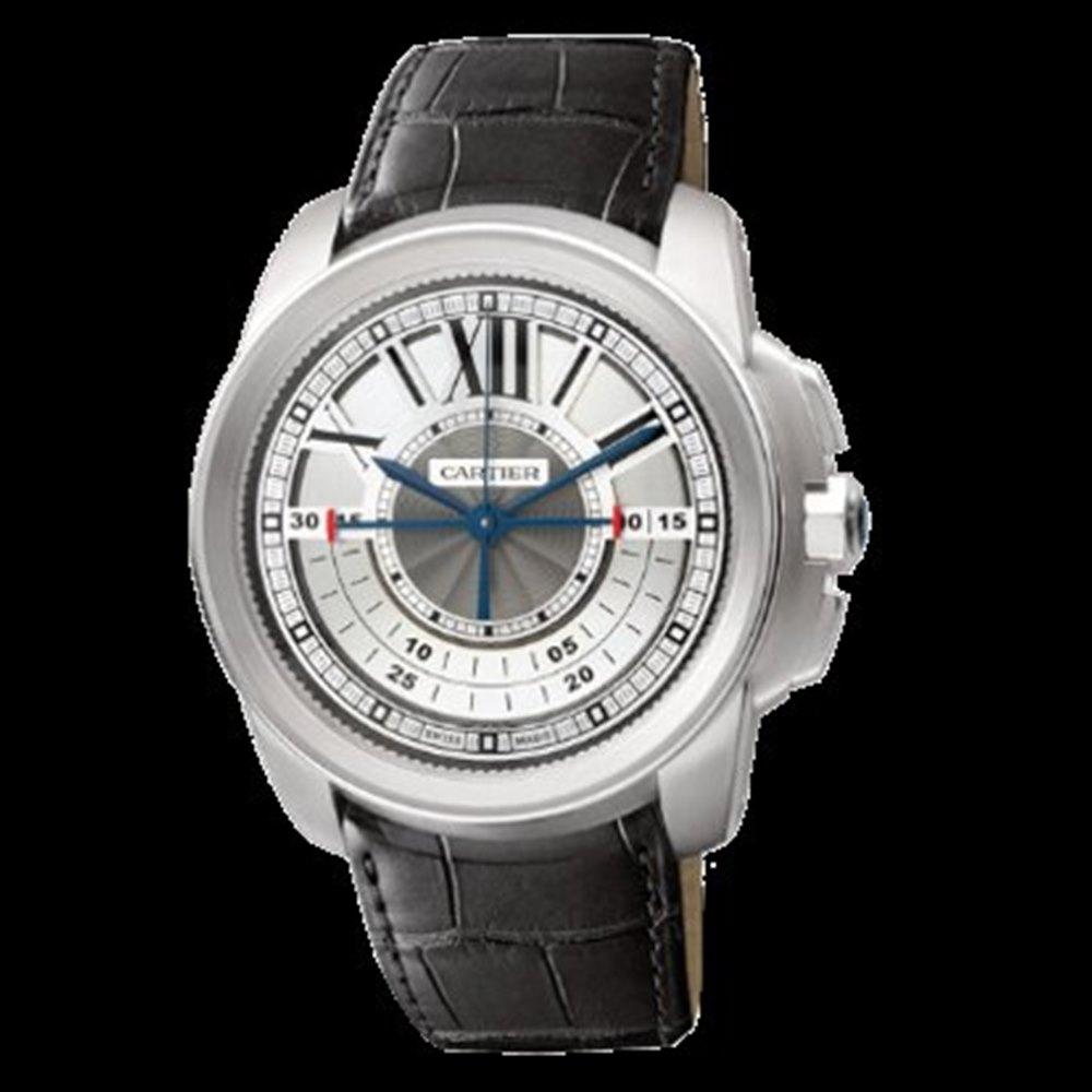 Cartier Calibre Chronograph 18k White Gold W7100005