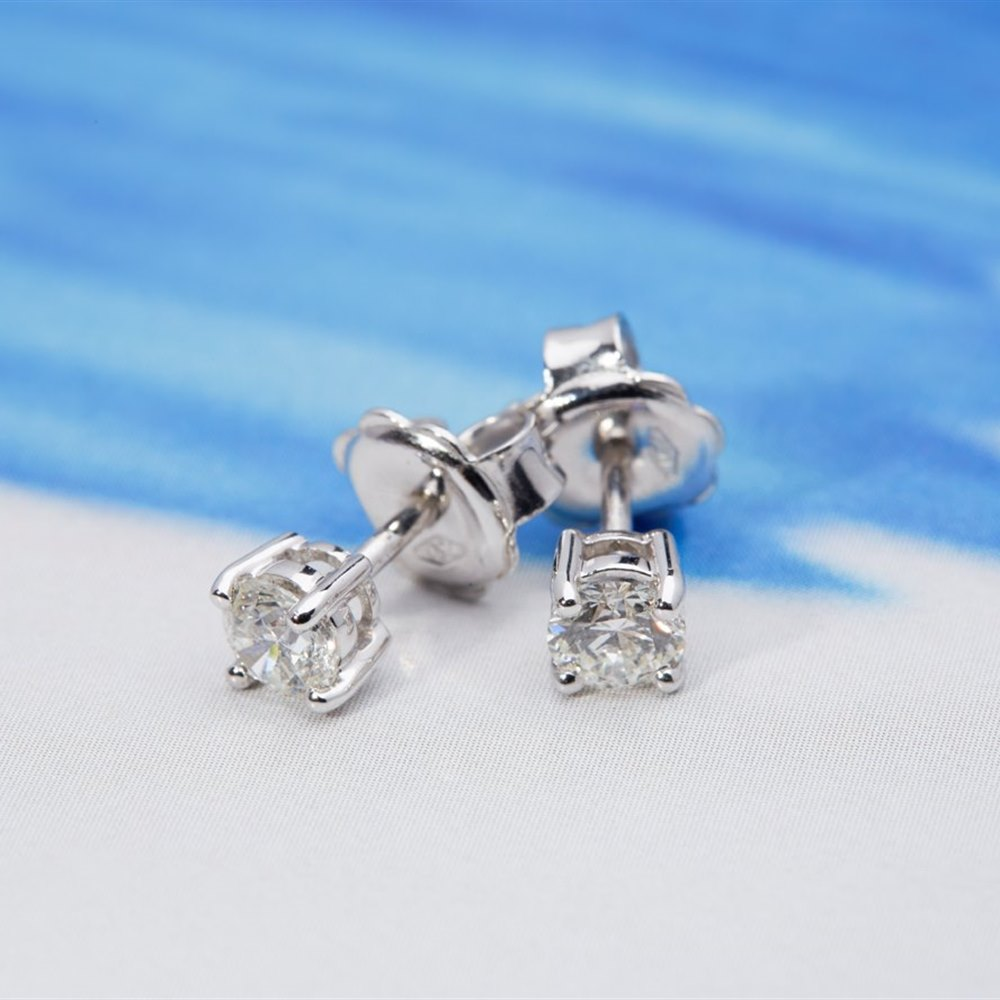 18k White Gold  18k White Gold 0.51ct Diamond Stud Earrings