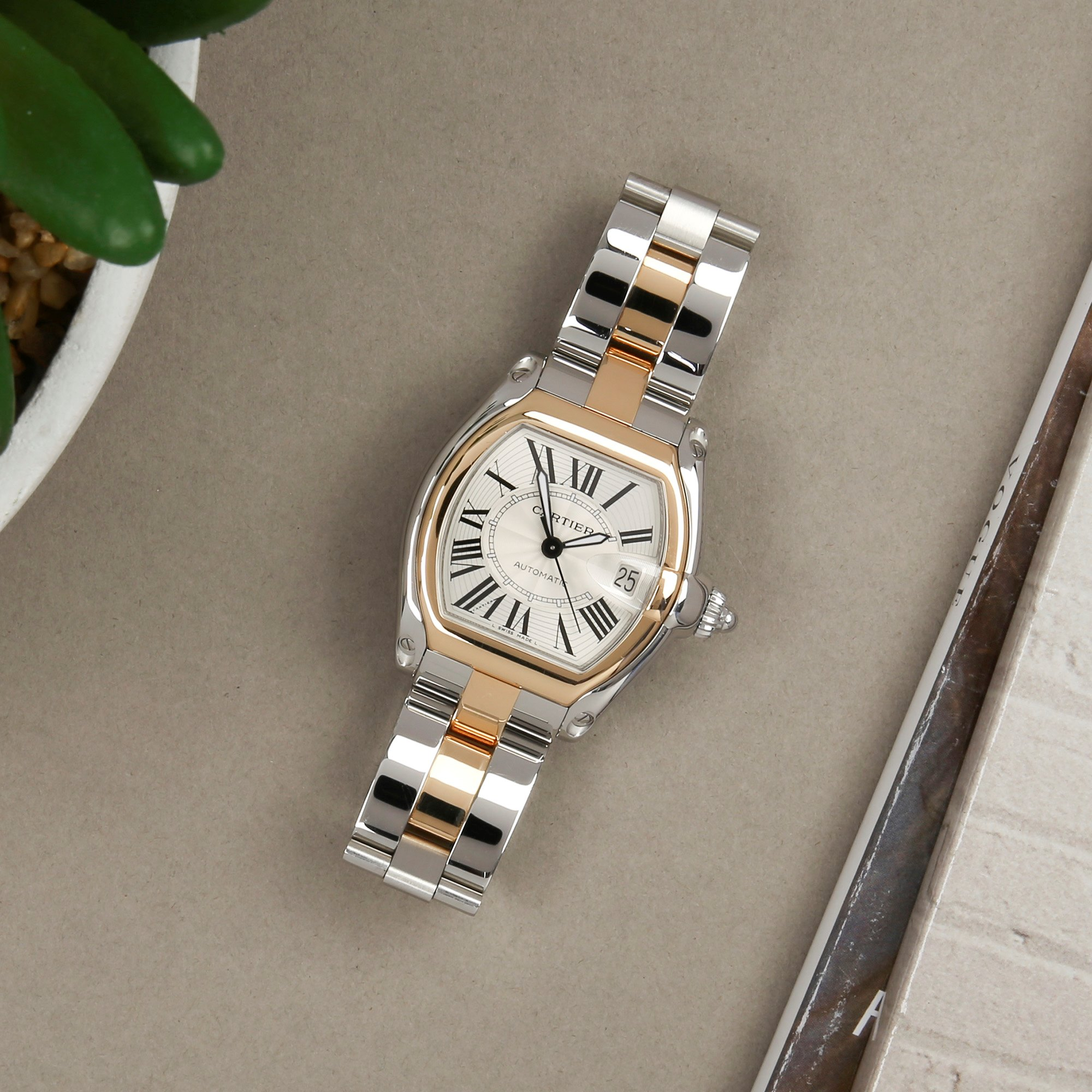 Cartier Roadster Large Automatic 18K Yellow Gold & Stainless Steel 2510