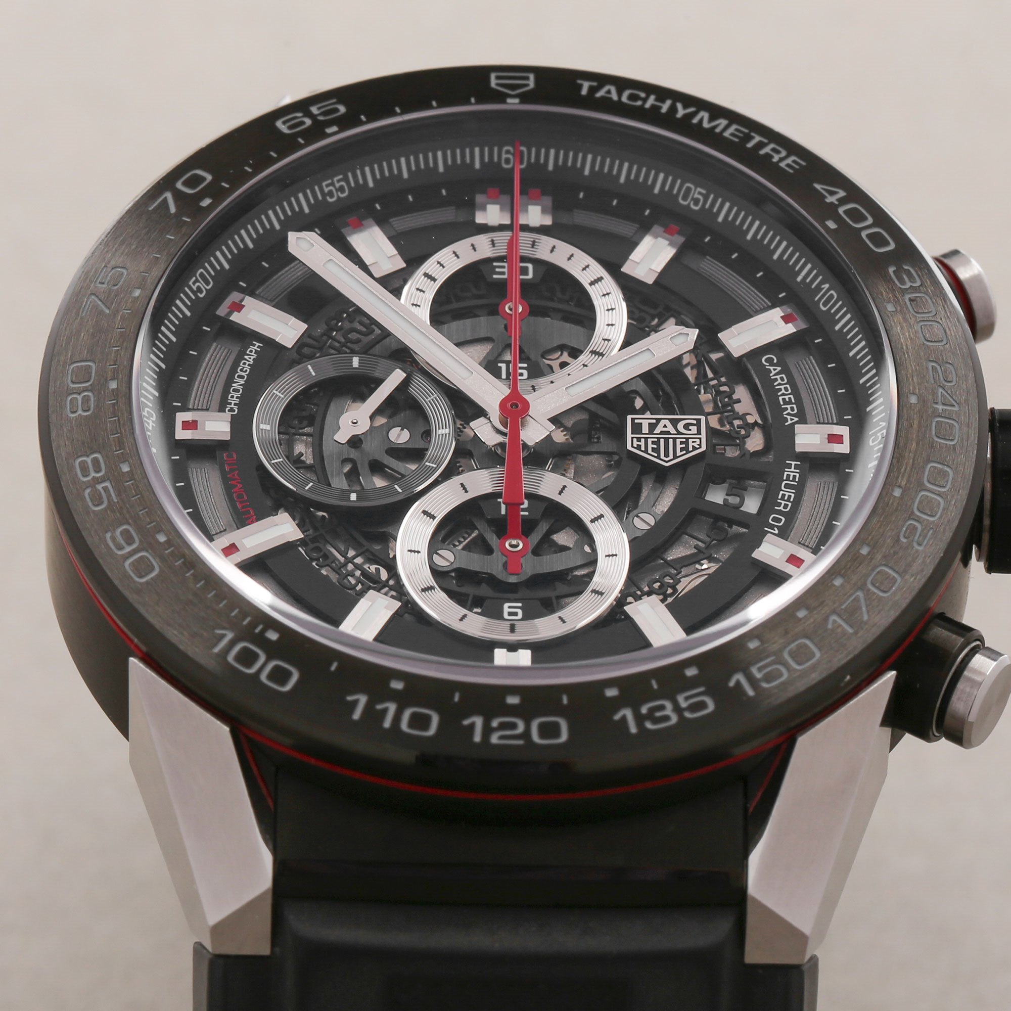 Tag Heuer Carrera Heuer 01 Skeleton Chronograph Stainless Steel CAR2A1Z
