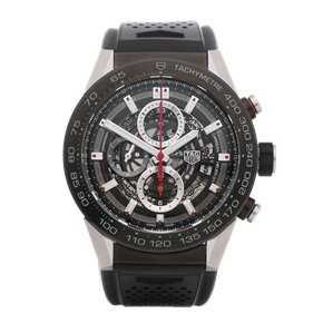 Tag Heuer Carrera Heuer 01 Skeleton Chronograph Stainless Steel - CAR2A1Z