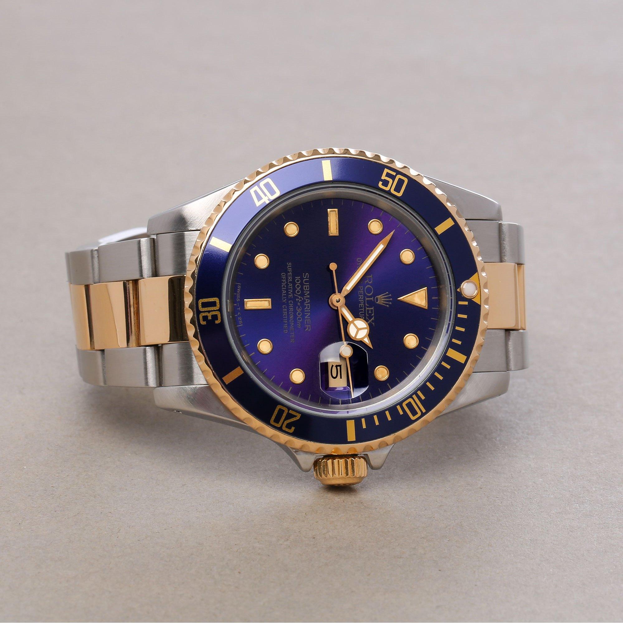 Rolex Submariner Date Purple 18K Yellow Gold & Stainless Steel 16613