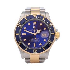 Rolex Submariner Date Purple 18K Yellow Gold & Stainless Steel - 16613