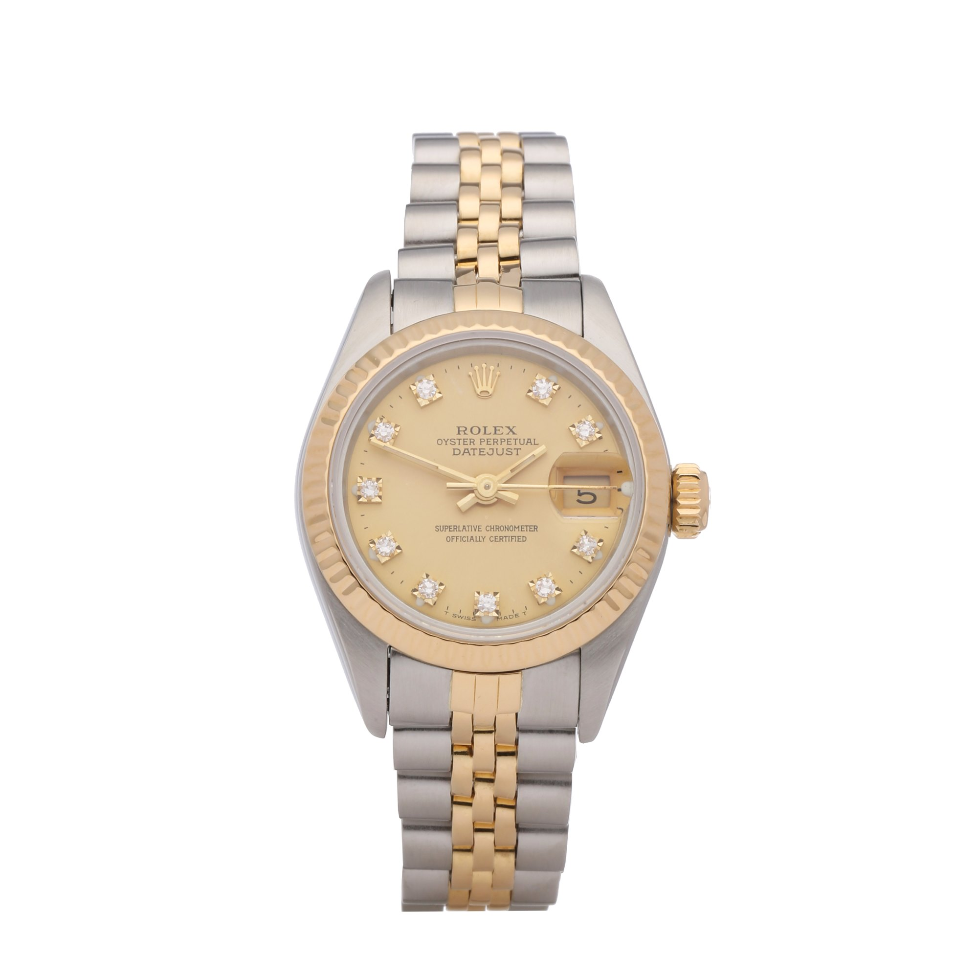Rolex Datejust 26 18K Stainless Steel & Yellow Gold 69173