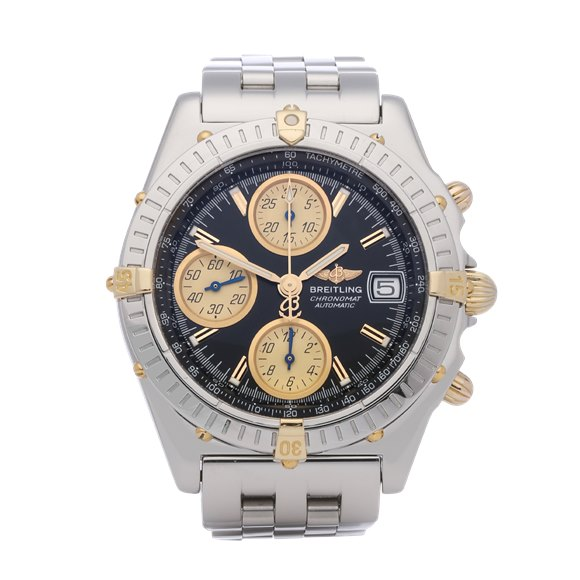 Breitling Chronomat Chronograph 18K Stainless Steel & Yellow Gold - B13350
