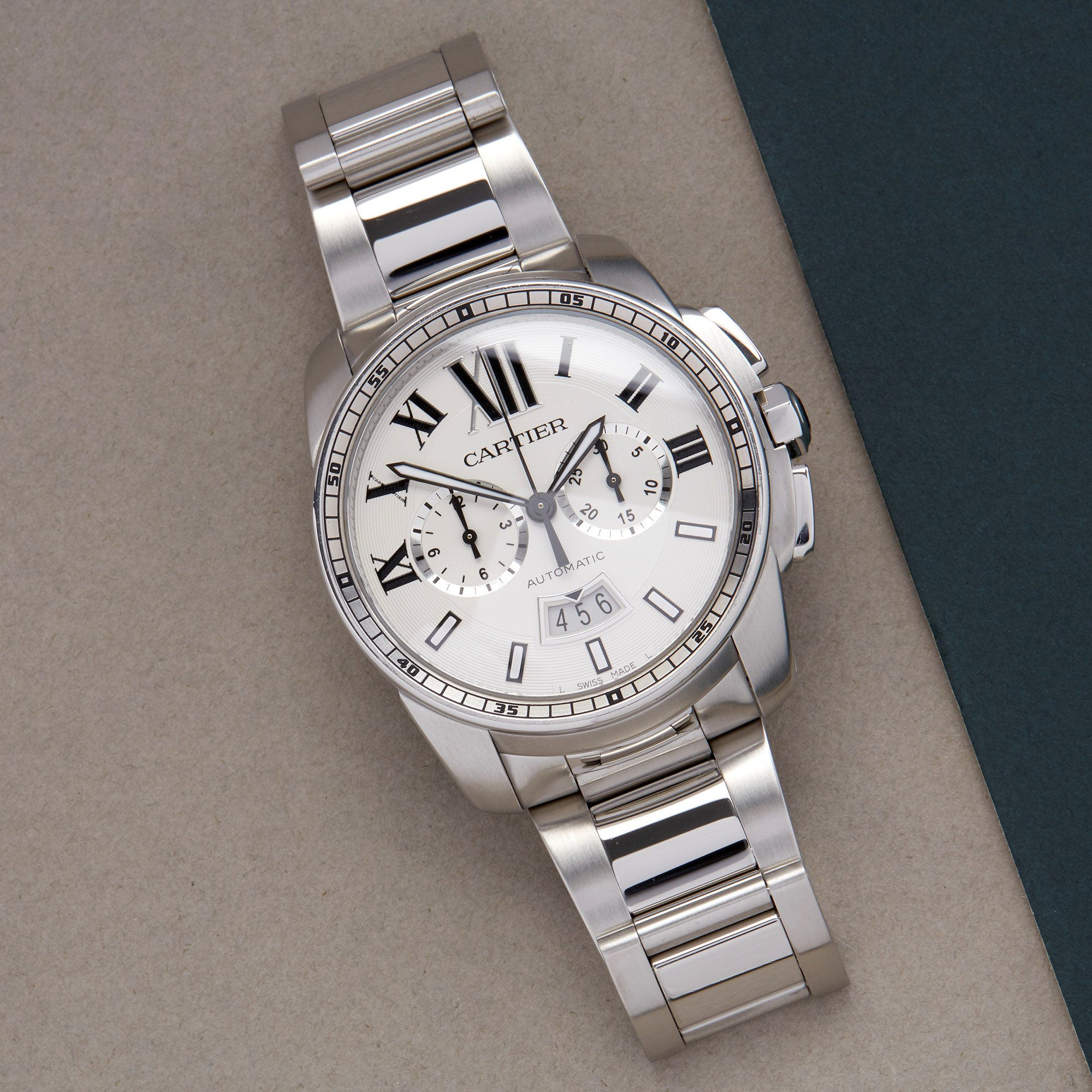 Cartier Calibre de Cartier Chronograph Stainless Steel W7100045 or 3578