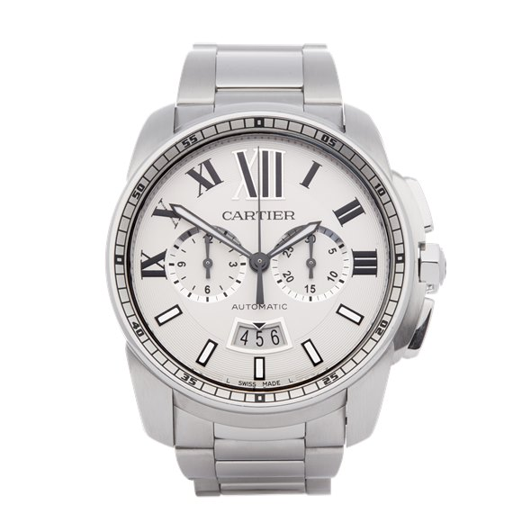 Cartier Calibre de Cartier Chronograph Stainless Steel - W7100045 or 3578