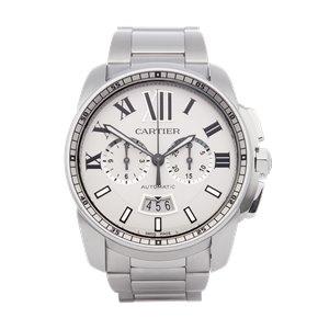 Cartier Calibre de Cartier Chronograph Stainless Steel - W7100045 or 3578