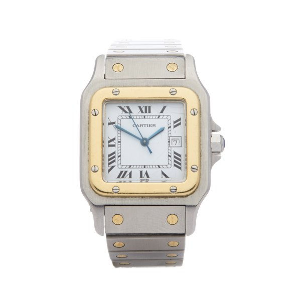 Cartier Santos Galbee Automatique 18K Stainless Steel & Yellow Gold - 1172961