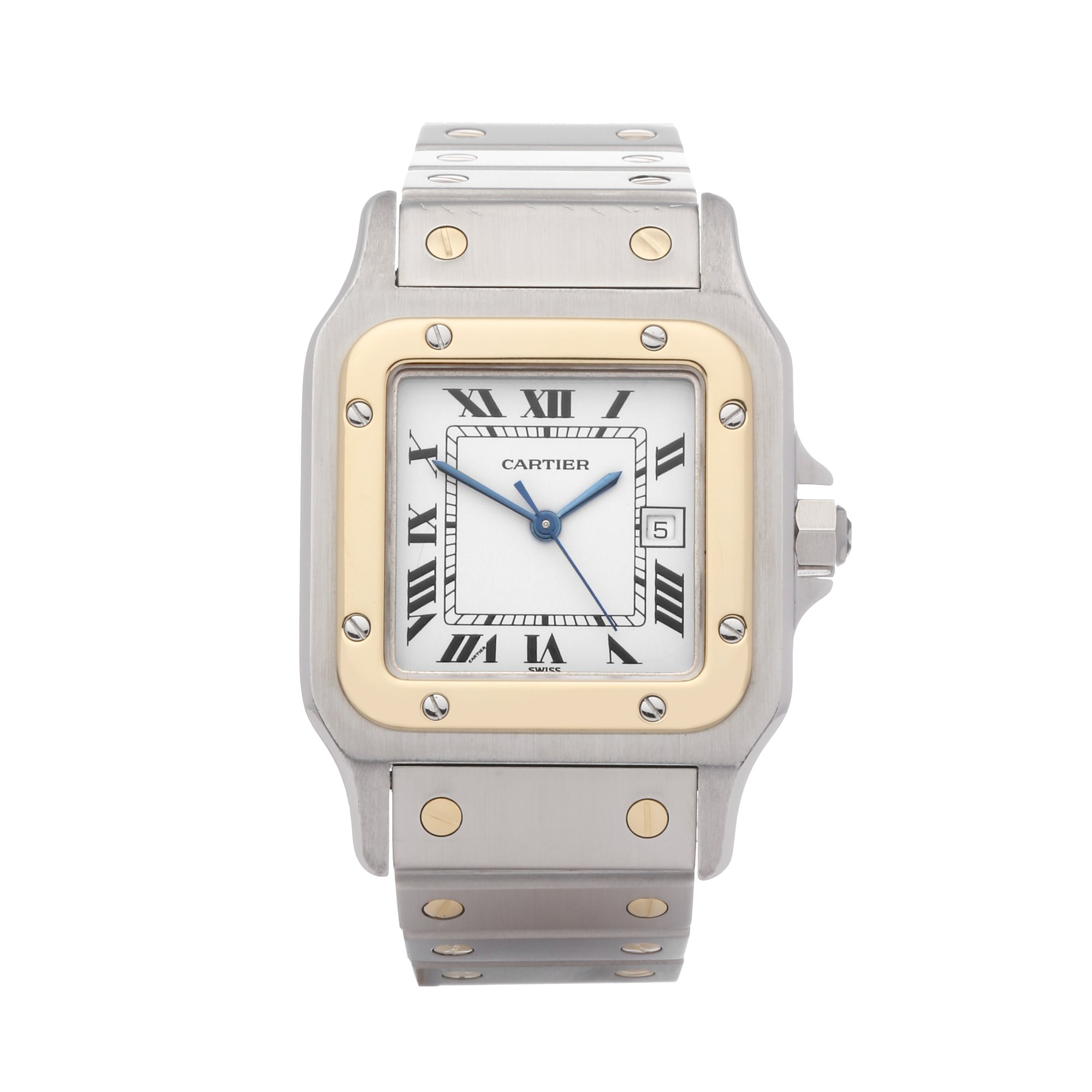 Cartier Santos Galbee Automatique 18K Stainless Steel & Yellow Gold 1172961