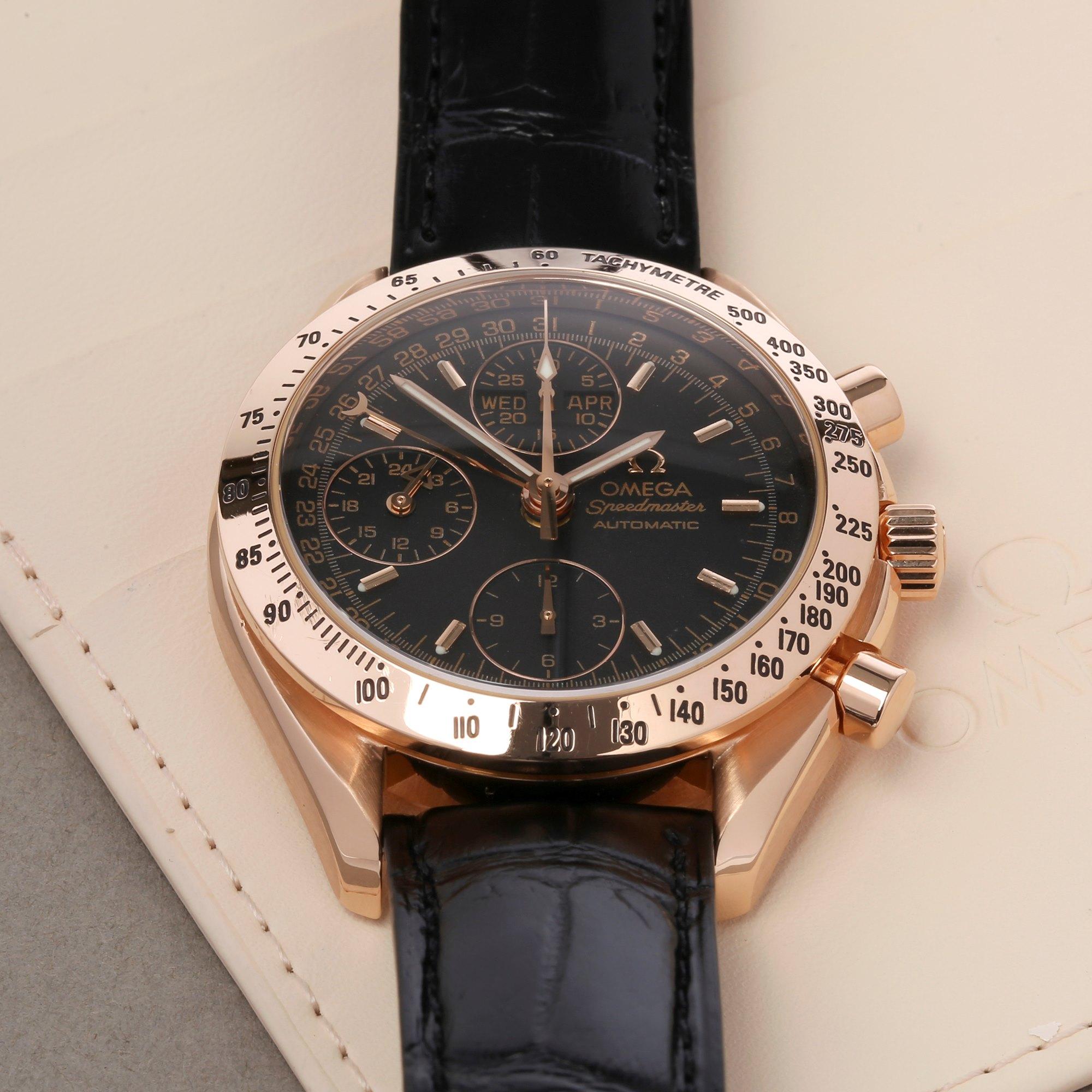 Omega Speedmaster Day Date Chronograph 18K Rose Goud 3623.50.01