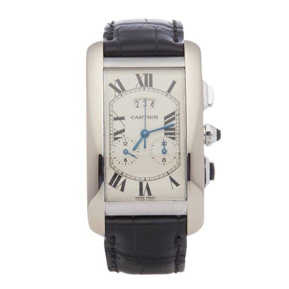 Cartier Tank Americaine Chronoreflex Chronograph 18K White Gold - 2569