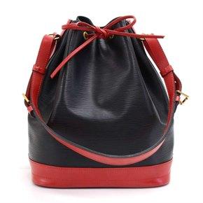 Louis Vuitton Black & Red Epi Leather Vintage Noé