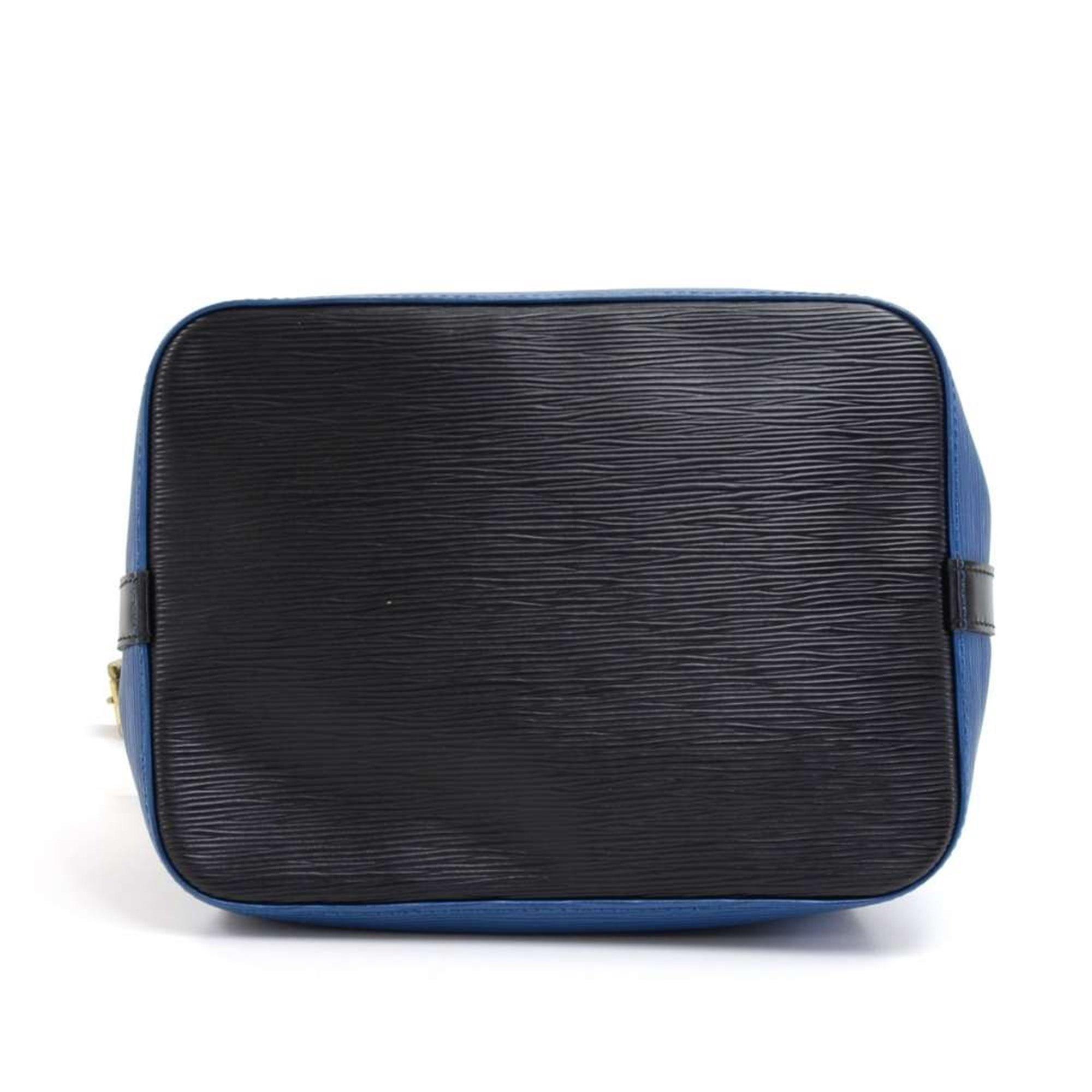 Louis Vuitton Black & Blue Epi Leather Vintage Petit Noé