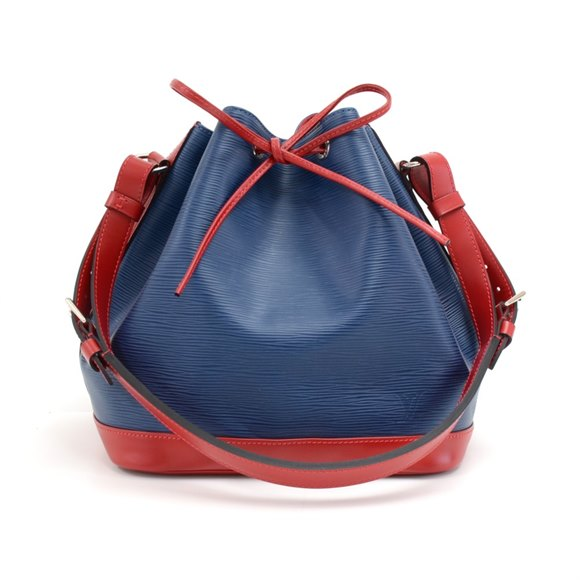 Louis Vuitton Blue & Red Epi Leather Vintage Petit Noé