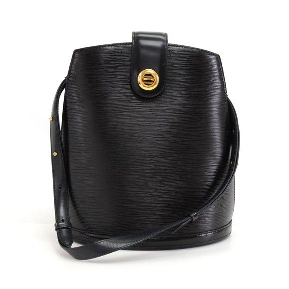 Louis Vuitton Black Epi Leather Cluny