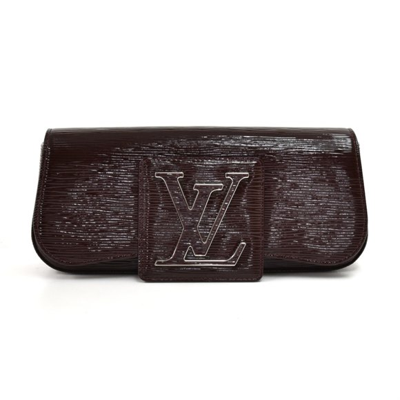 Louis Vuitton Brown Patent Epi Leather Sobe Electric Clutch