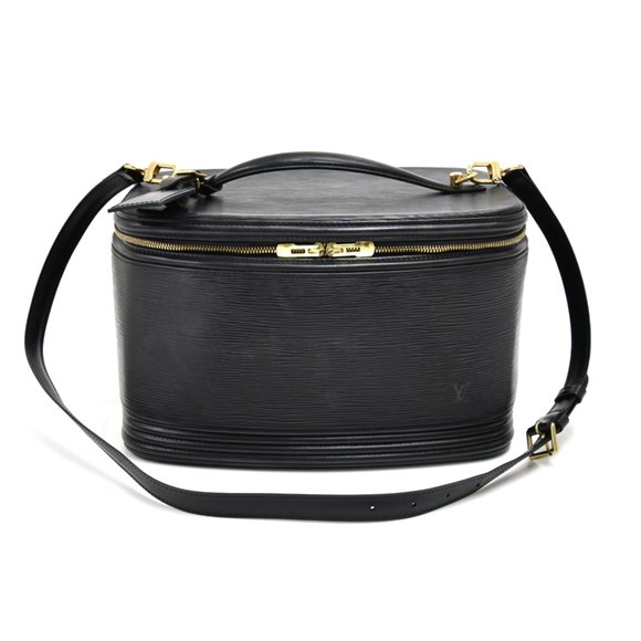 Louis Vuitton Black Epi Leather Vintage Vanity Case