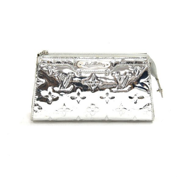 Louis Vuitton Silver Metallic Mirror Miroir Trousse