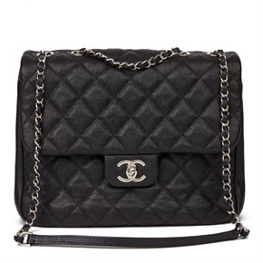 Chanel Black Quilted Caviar Leather Urban Companion Flap Bag