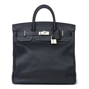 Hermès Blue Ocean Fjord Leather Birkin 40cm HAC