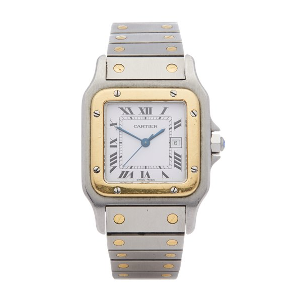 Cartier Santos Galbee Large Automatic 18K Stainless Steel & Yellow Gold