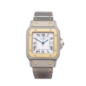 Cartier Santos Galbee Large Automatic 18K Stainless Steel & Yellow Gold - 0