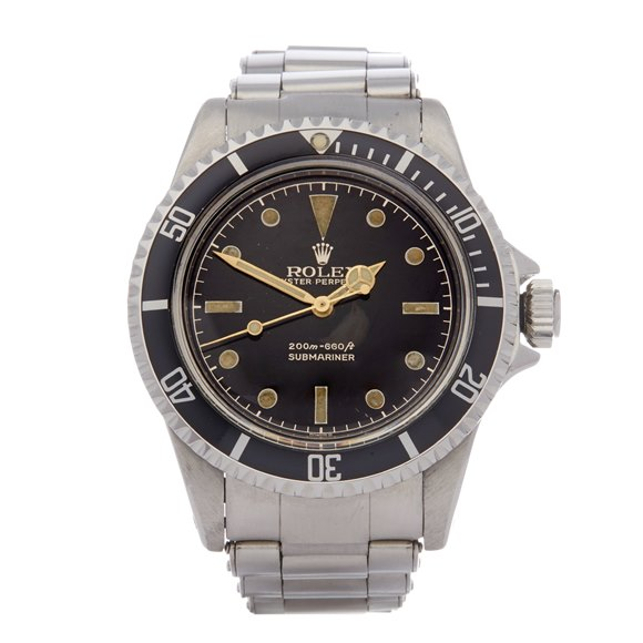 Rolex Submariner Non Date PGC Gilt Gloss Meters First Stainless Steel - 5512