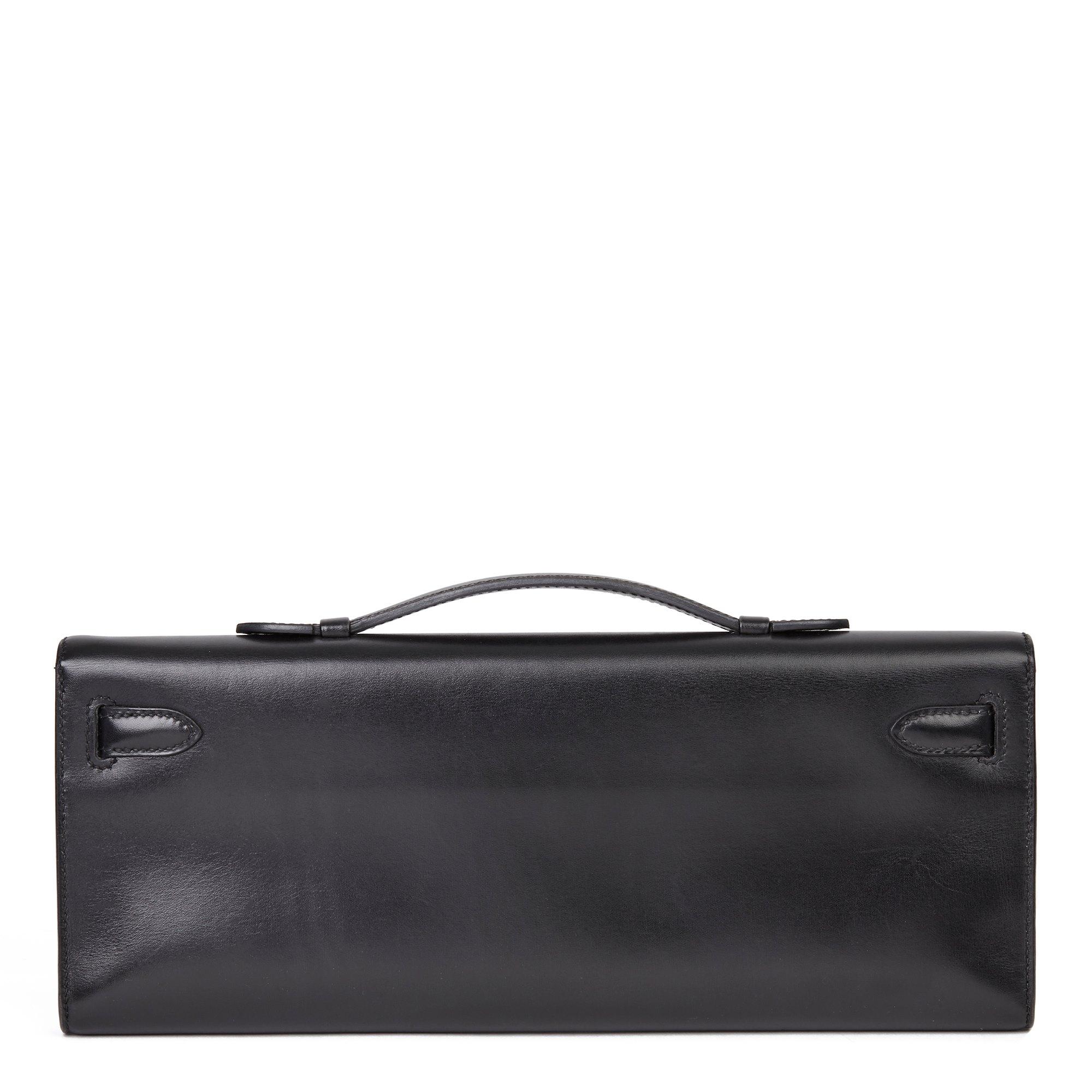 Hermès Black Box Calf Leather SO Black Kelly Cut