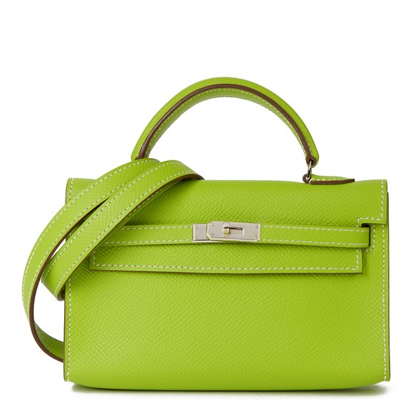 Hermès Kiwi Epsom Leather Candy Collection Kelly Tiny