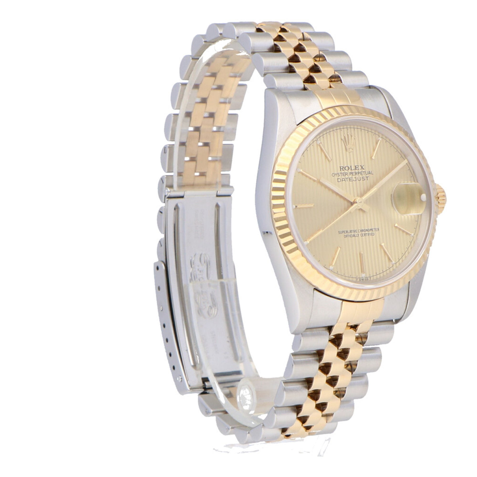 Rolex Datejust Stainless Steel & Yellow Gold 16233OCC