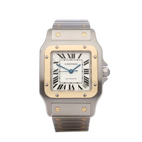 Cartier Santos Galbee XL Automatic 18K Yellow Gold & Stainless Steel - 2823