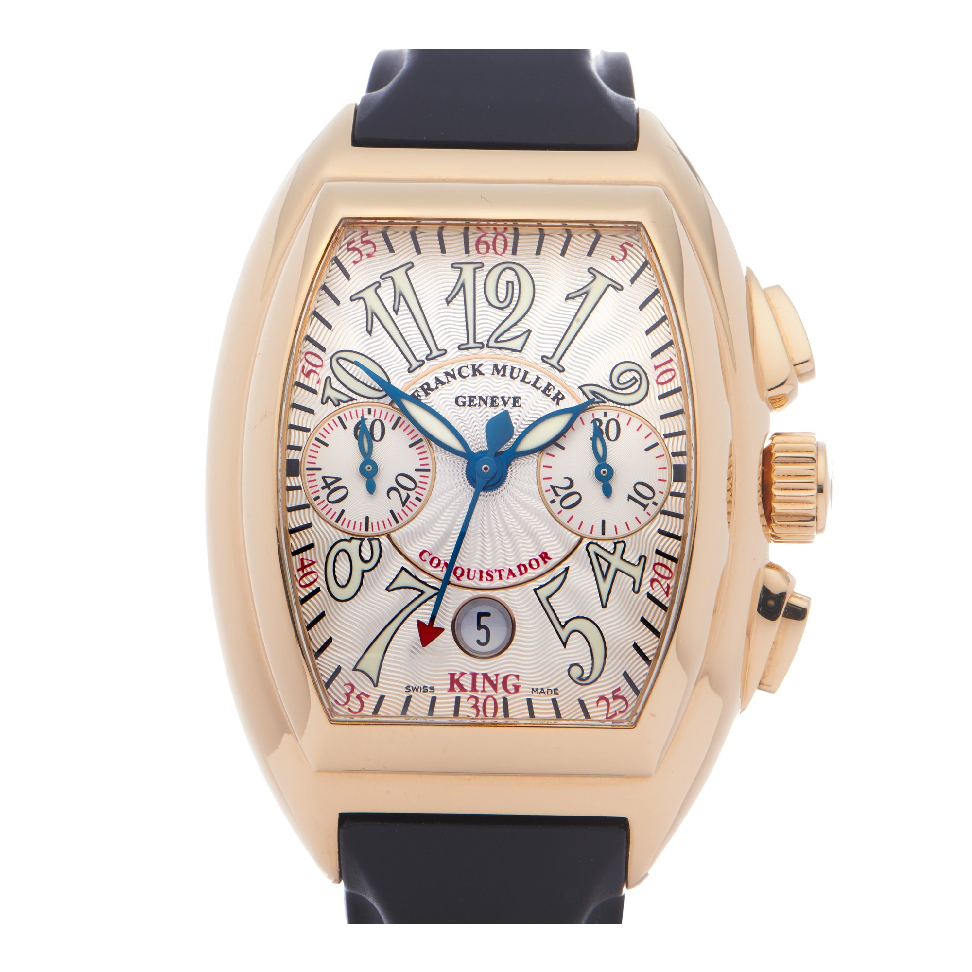 Franck Muller King Conquistador Chronograph 18K Yellow Gold 8005 CC KING