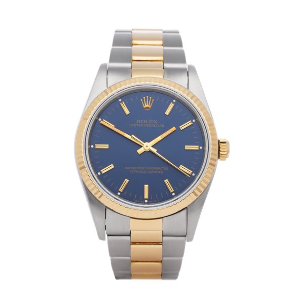 Rolex Oyster Perpetual 18K Yellow Gold & Stainless Steel - 14233