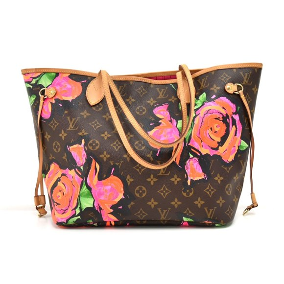 Louis Vuitton Brown Roses Monogram Canvas Stephen Sprouse Neverfull MM